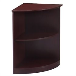 Mayline Corsica 2 Shelf Quarter-Round Bookcase in Mahagony