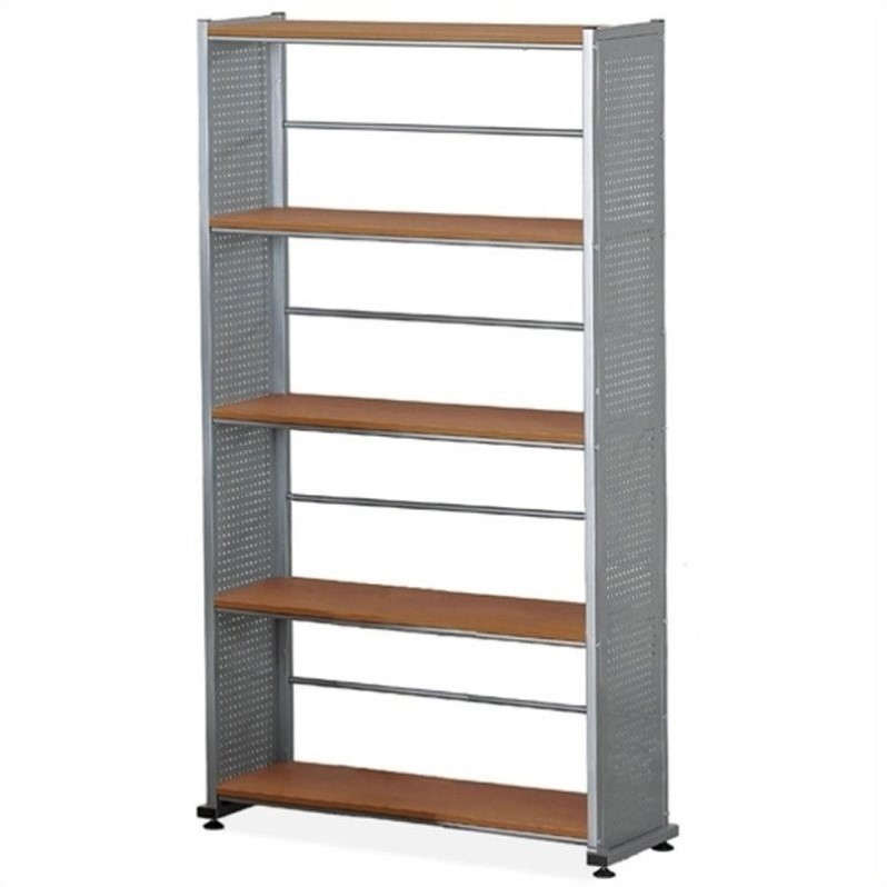 Eastwinds Five Shelves Shelving Bookcase in Medium Cherry