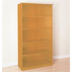 Mayline Corsica 5-Shelf Open Bookcase in Golden Cherry