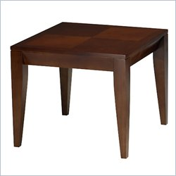 Mayline Diamond Square End Table in Bourbon Cherry