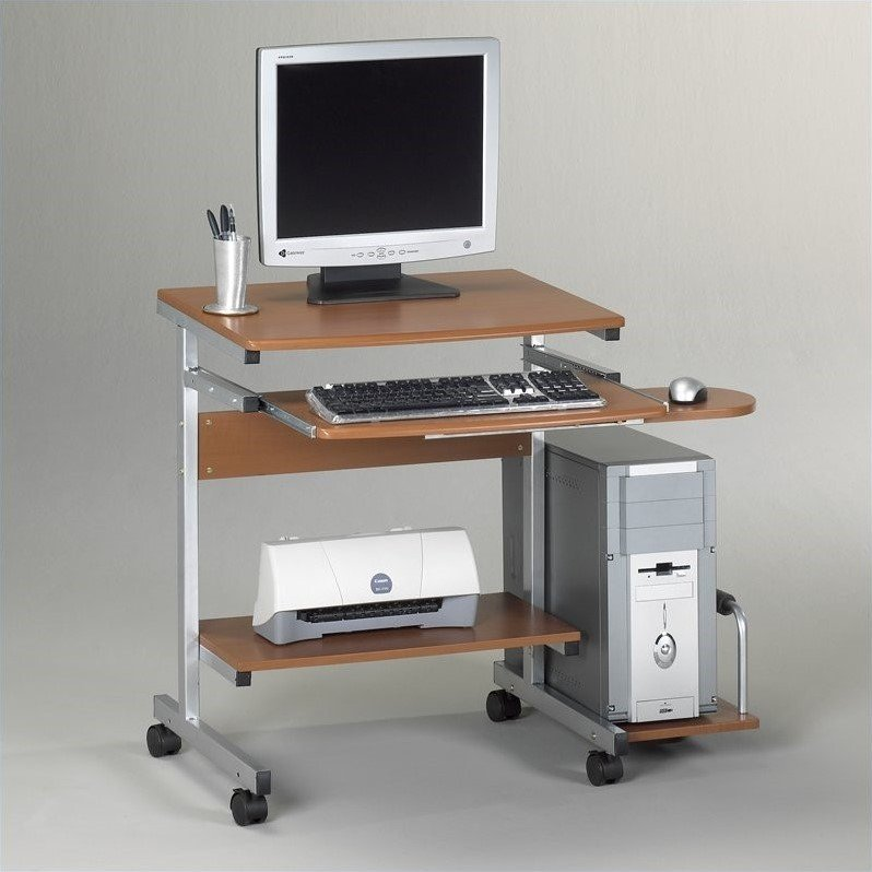 Mayline Eastwinds Portrait Mobile Wood Computer Cart