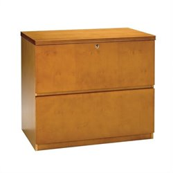 Mayline Luminary 2 Drawer Lateral Wood File Cabinet in Maple Finish