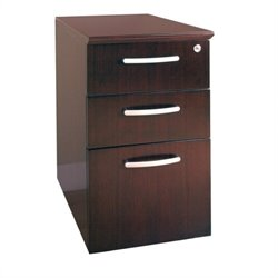 Mayline Napoli 3 Drawer Pedestal File in Mahogany