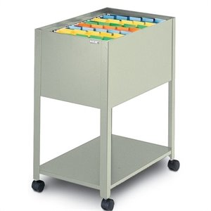 Mayline Mobilizer Letter 1 Drawer Mobile Metal Filing Storage in Gray