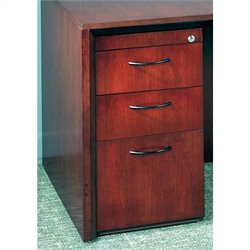 Mayline Corsica 3 Drawer Pedestal File for Credenza/Return in Mahogany