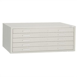 Mayline C-Files 5 Drawer Flat Files Metal Cabinet - Gray