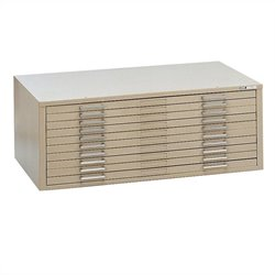 Mayline C-Files 10 Drawer Metal Flat Files Cabinet for 36