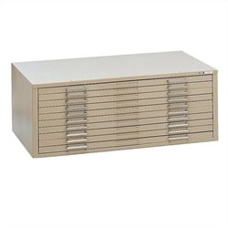 Mayline C-Files 10 Drawer Metal Flat Files Cabinet for 30