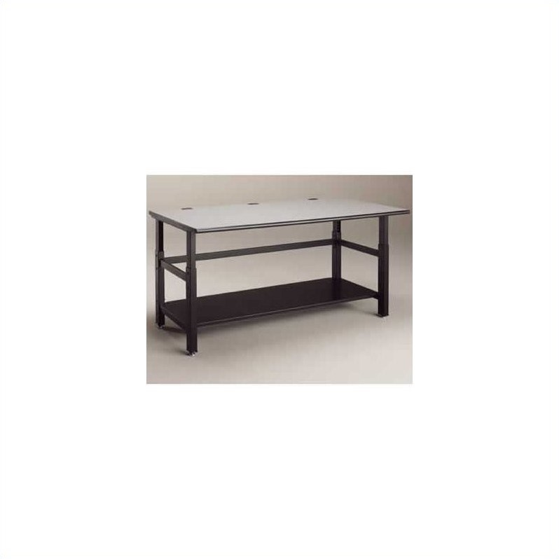 Mayline Techworks 60 x 36 Adjustable Table in Textured Black Paint