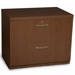 Mayline Aberdeen Freestanding Lateral Filing Cabinet in Mocha