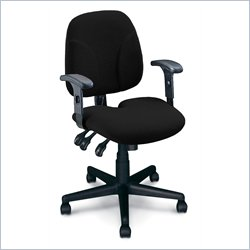 Mayline Comfort Multi-Function Task Chair with Tailborn Seat Cushion - Burgundy no Arms