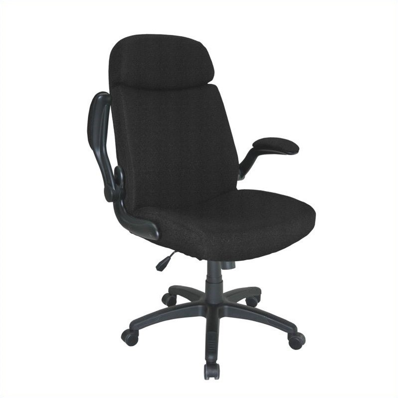 comfort big and tall metal and plastic pivot arm office chair 6446ag