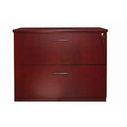 Mayline Medina 2 Drawer Lateral File Cabinet in Mahogany