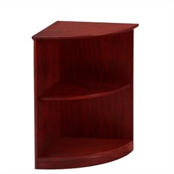 Mayline Medina Bookcase (2 Shelf 0.25 - Round) in Mahogany