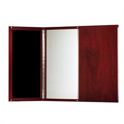 Mayline Medina Presentation Board in Mahogany