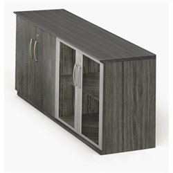 Mayline Medina Low Wall Cabinet with Doors in Gray Steel