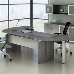 Mayline Medina Series Office Suite 1 in Gray Steel