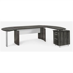 Mayline Medina Series - Office Suite 4 in Gray Steel