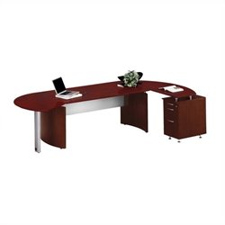 Mayline Medina Series - Office Suite 4 in Mahogany