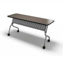 Mayline Sync Training 18 Inch Rectangular Table in Mocha