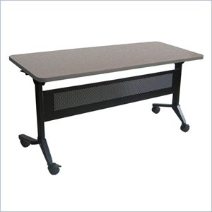 Mayline Flip-N-Go Table in Speckled Gray Matrix
