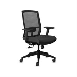 Mayline Gist Mesh Multi-Purpose Office Chair in Black