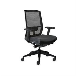 Mayline Gist Mesh Task Office Chair in Black