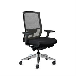 Mayline Gist Mesh Task Plus+ Office Chair in Black
