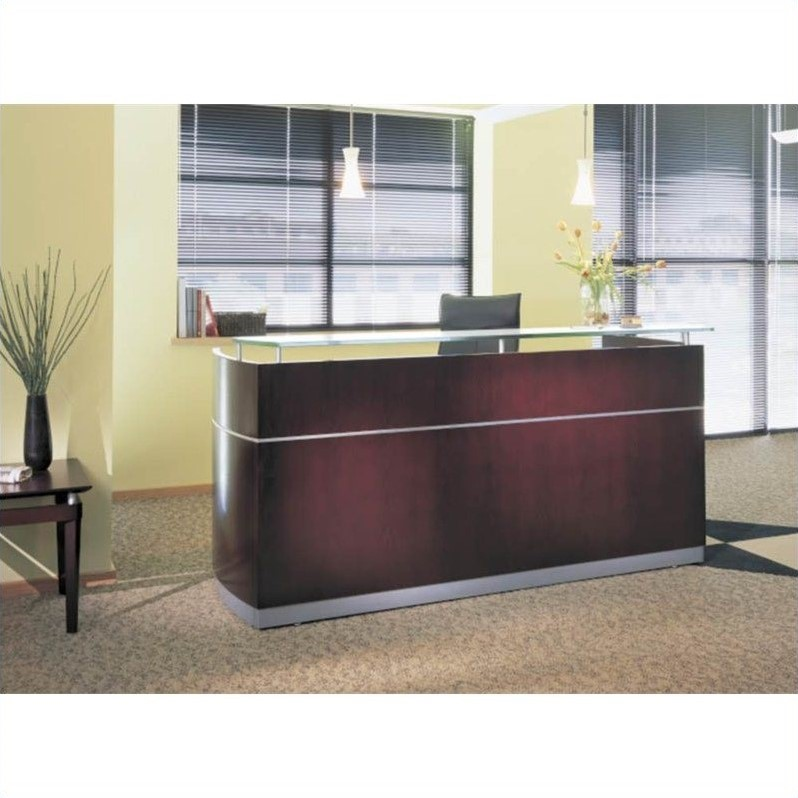 Mayline Napoli Reception Desk in Mahogany