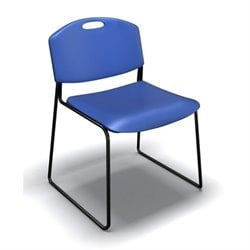 Mayline Event Series Stacking Chair in Blue (Set of 4)