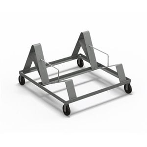 Mayline Event Series Chair Stacking Cart in Black