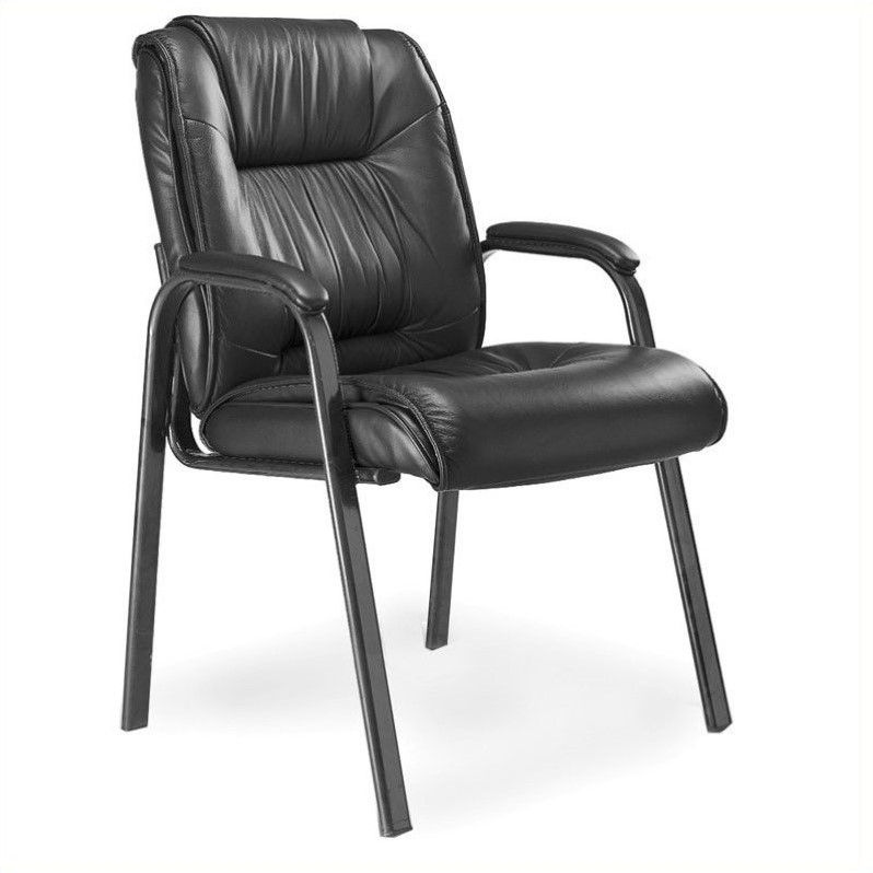 Mayline Guest Chair with Top Grain Cowhide Leather