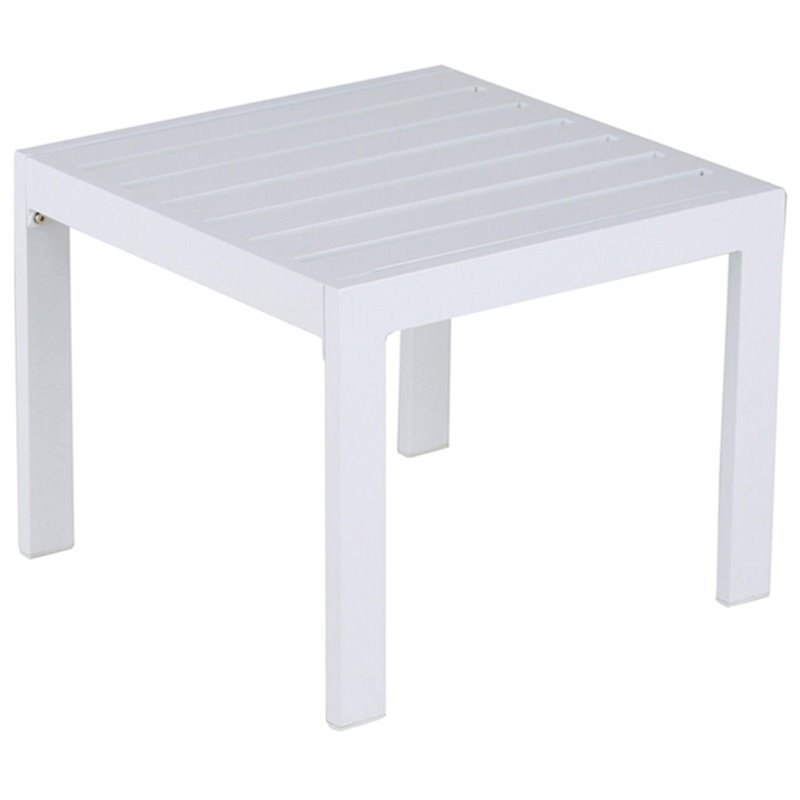 Elle Decor Paloma Patio Side Table In White