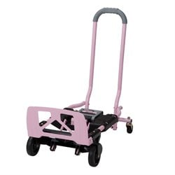 Multi-Position Folding Hand Truck and Cart in Pink
