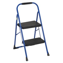 2 Step Folding Step Stool in Blue