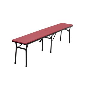 6' Center Fold Bench with Handle in Red (Set of 2)