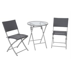 COSCO Delray 3 Piece Patio Bistro Set-SH