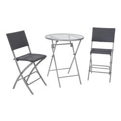 COSCO Delray 3 Piece High Top Patio Bistro SeT-SH