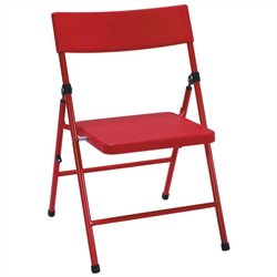 Kids Metal Folding Chair in Red (Set of 4)