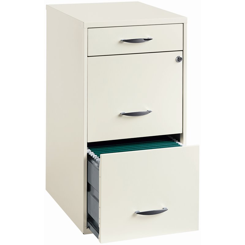 Value Pack (Set of 2) 3 Drawer Steel File Cabinet in White