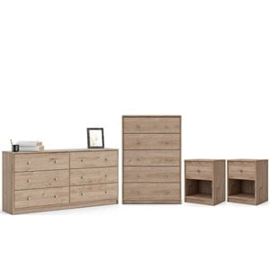4 Piece Bedroom Set in Jackson Hickory