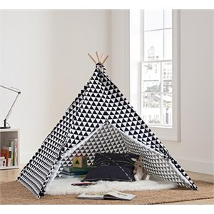 Little Seeds Rowan Valley River Teepee in White and Black