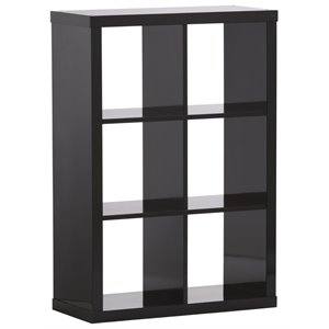 Little Seeds Rowan Valley Aspen 6 Cubby Bookcase in Black