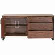 Origin Media Sideboard in Timber Brown and Oil-Rubbed Bronze