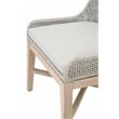 Tapestry Patio Dining Side Chair in Taupe and White (Set of 2)