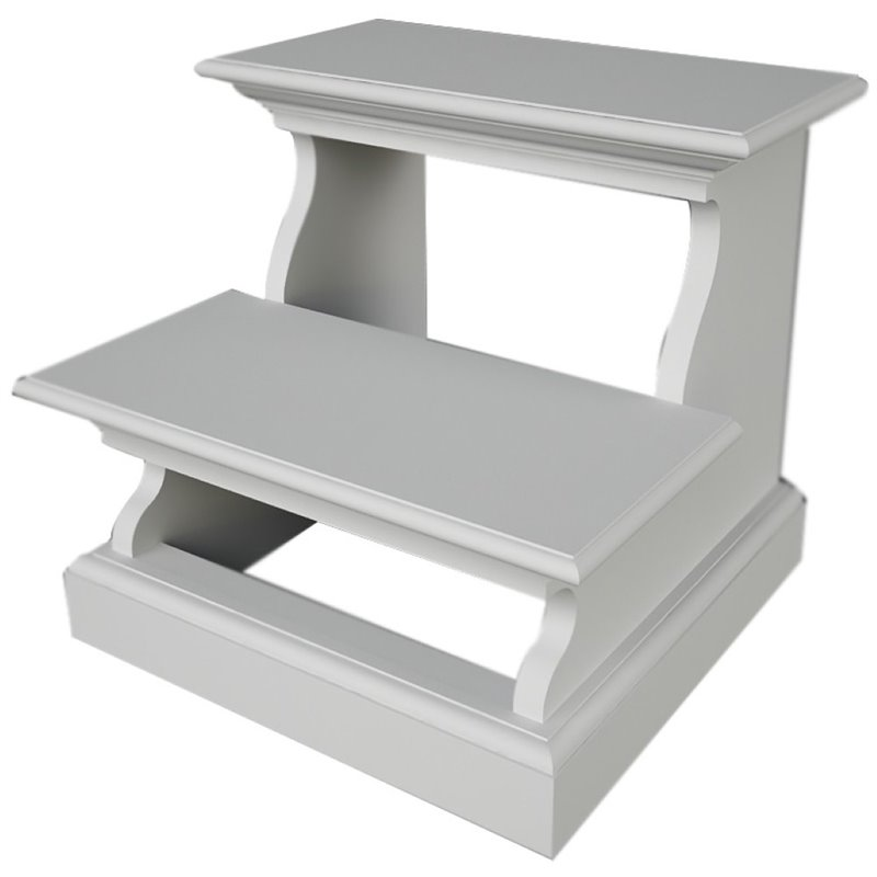 NovaSolo Halifax Bed Step Stool in Pure White