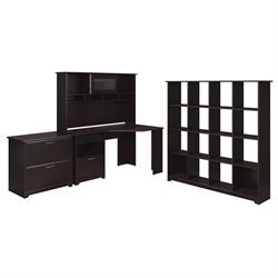 Bush Cabot 4 Piece Office Set in Espresso Oak