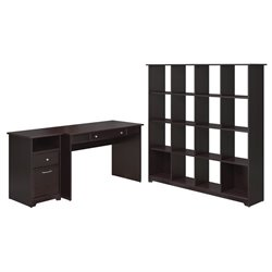 Bush Cabot 2 Piece Office Set in Espresso Oak