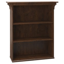 Bush Furniture Mission Creek 3 Shelf Bookcase in Antique Cherry