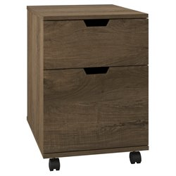 Bush Furniture Mission Creek 2 Drawer File Cabinet in Rustic Brown